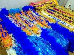 高品质超炫花场绶带旗帜布制作批发